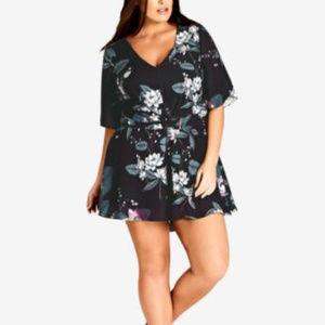 City Chic Trendy Plus Size Cutout-Back R Blossom